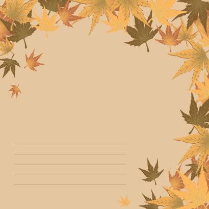 レトロな秋の紅葉もみじ背景のイラストaieps ベクタークラブ