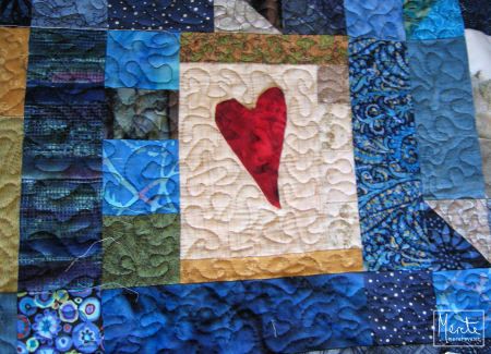 heart quilted :: hjerte m quilting