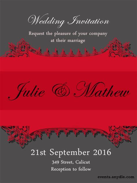 Free online wedding invitation cards   Festival Around the