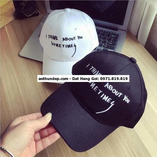nhận thêu chữ trên nón