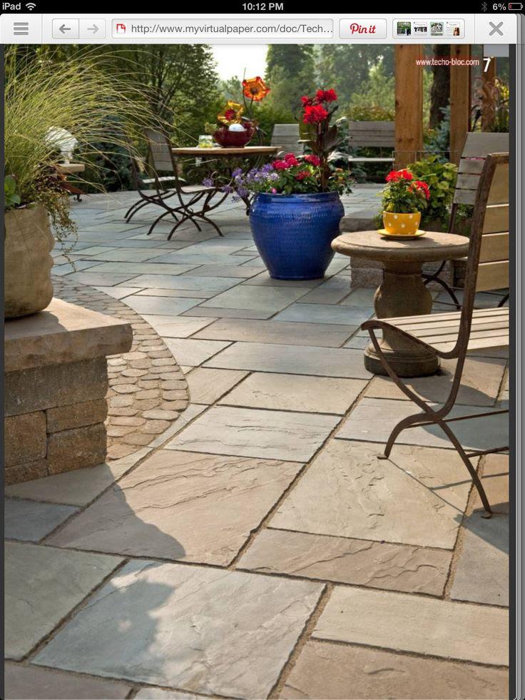 Backyard stamped concrete patio ideas