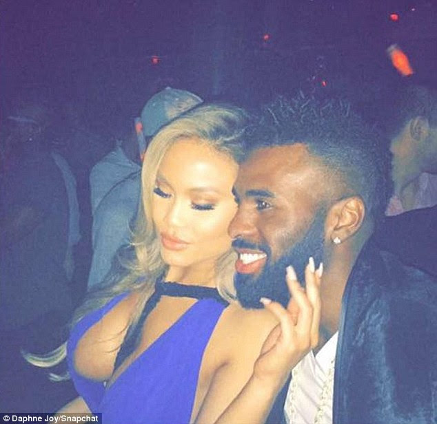 Staying close: Daphne Joy, who is the mother of 50 Cent's son, Sire Jackson, 3, confirmed she is dating Jason Derulo after posting photos and a video of them together to her Snapchat on Thursday