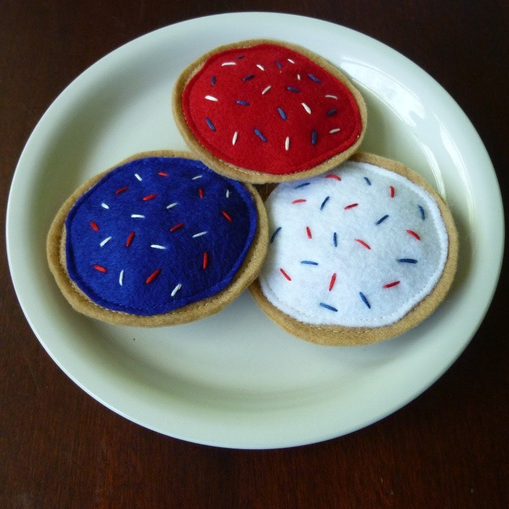 Patriotic Cookies - Felt Play Food