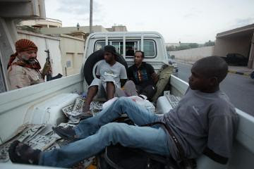Nigerians and other Africans are being held hostage by the US-NATO backed counter-revolutionary rebels in Libya. The bands of armed gangs have arrested, tortured and murdered hundreds since August 20. by Pan-African News Wire File Photos
