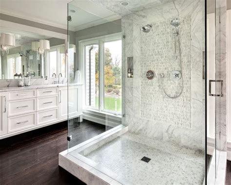 outstanding transitional bathroom design white