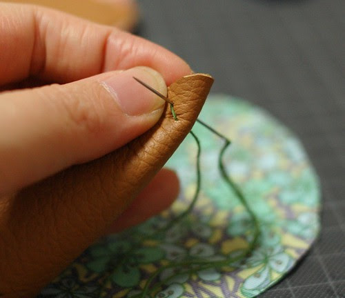 How to make a leather bottom pincushion 9