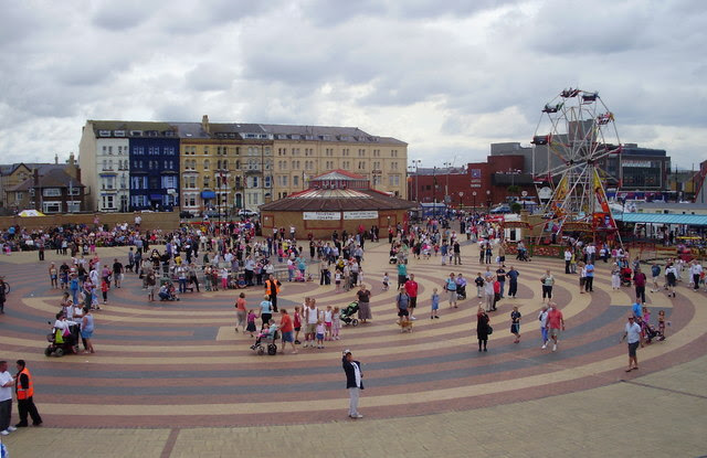 File:The sea front at Rhyl - geograph.org.uk - 1571576.jpg