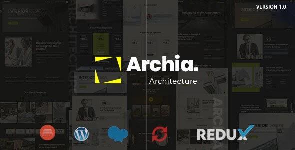 Archia v1.0.3 - Architecture & Interior WordPress Theme