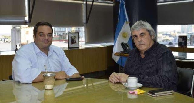 Triaca se reunió ayer con Sergio Romero, secretario general de UDA