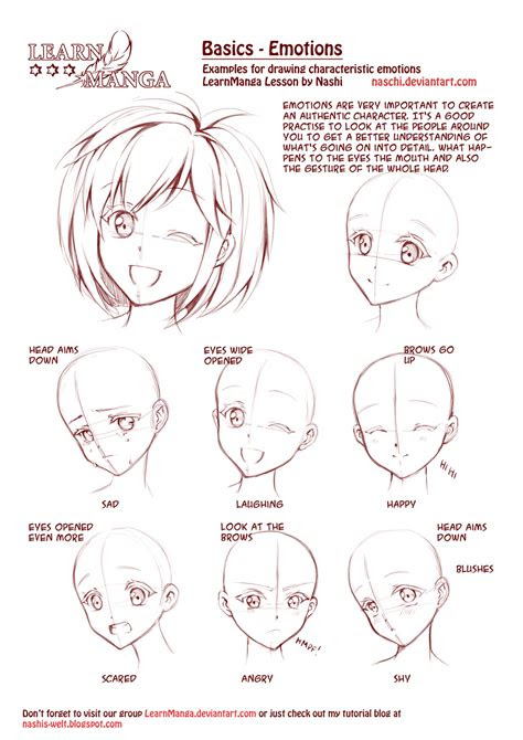 learn manga emotions  naschi  deviantart