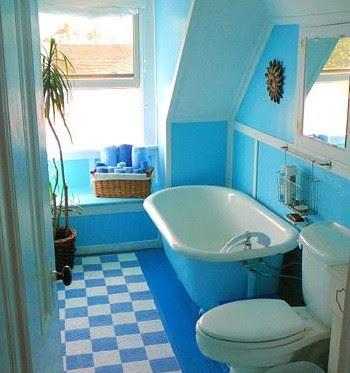 blue small bathroom renovations ideas | Home Interiors
