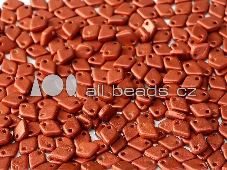 Dragon® Scale Bead 1,5 x 5 mm Lava Red