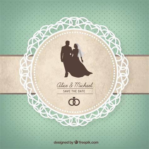 Cute wedding card Vector   Premium Download