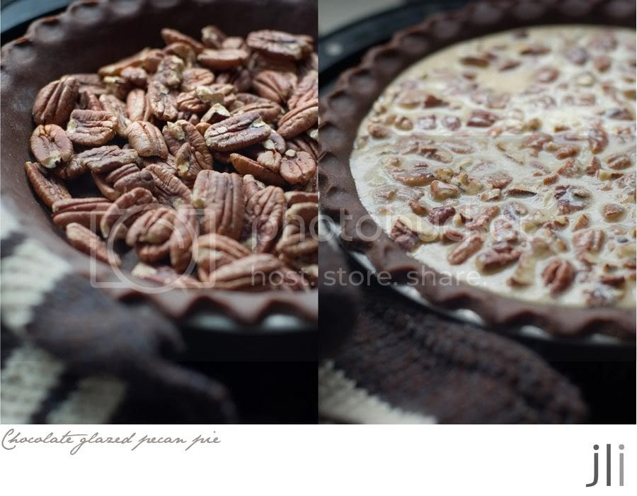 chocolate glazed pecan pie