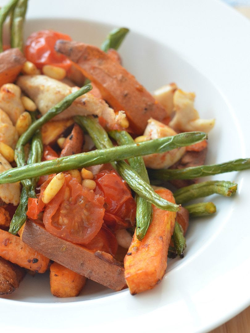 Stir Fry Chicken, Sweet Potato & Pine Nuts