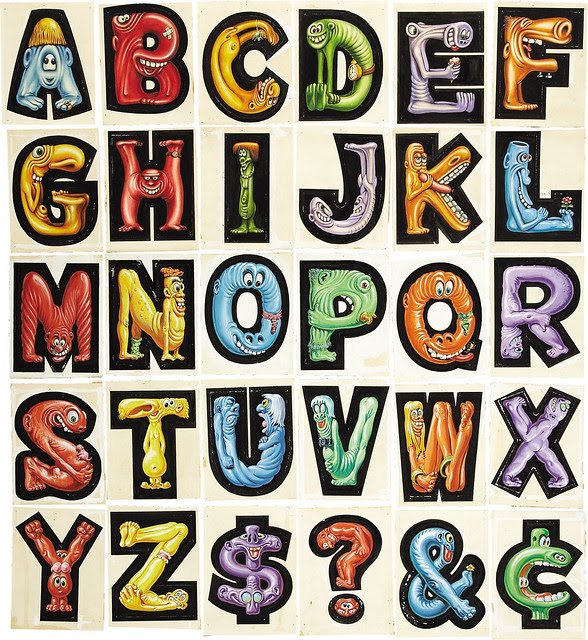 Norman Saunders - Topps Nutty Initial Stickers, 1967