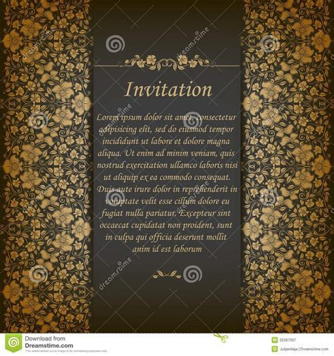 Elegant Background With Lace Ornament Royalty Free Stock