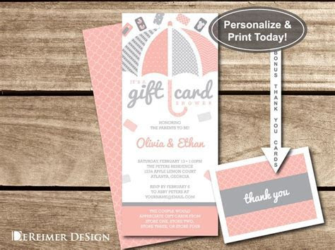 Gift Card Shower Invitation, Gift Card Baby Shower, Baby