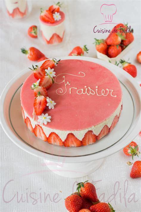 recette fraisier patissier
