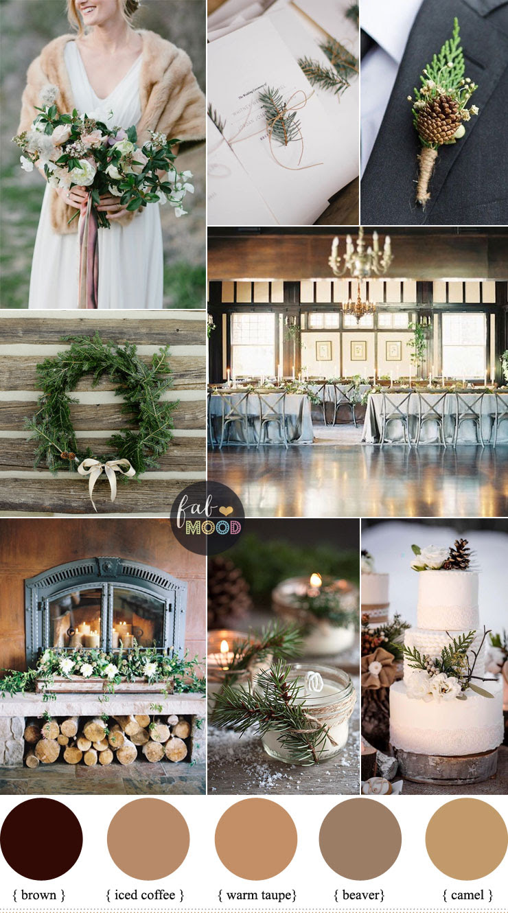 Rustic Winter Wedding in shades of neutral { Warm Taupe ...