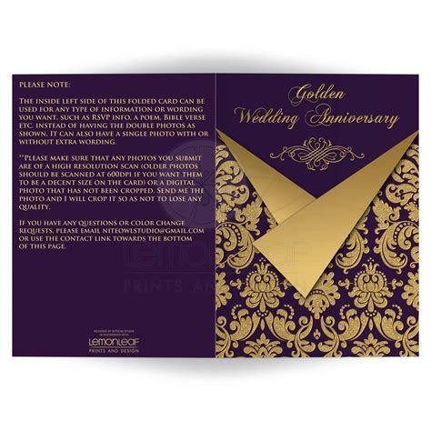 Any Anniversary Invitation Card   OPTIONAL PHOTOS   Purple