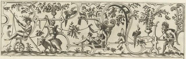 Voorop zit een man met een lans...1552