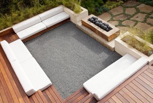 Contoh desain kolam dengan aplikasi kayu