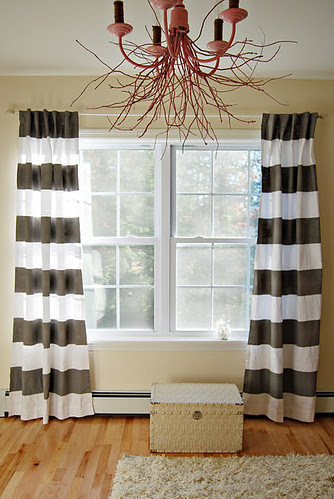 paintedgreystripecurtains