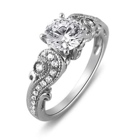 Platinum Paisley Fancy Solitaire Engagement Ring