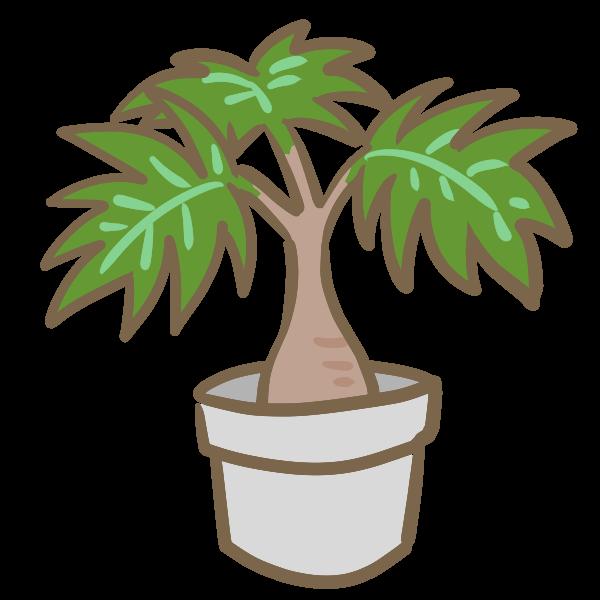 観葉植物1のイラスト かわいいフリー素材が無料のイラストレイン