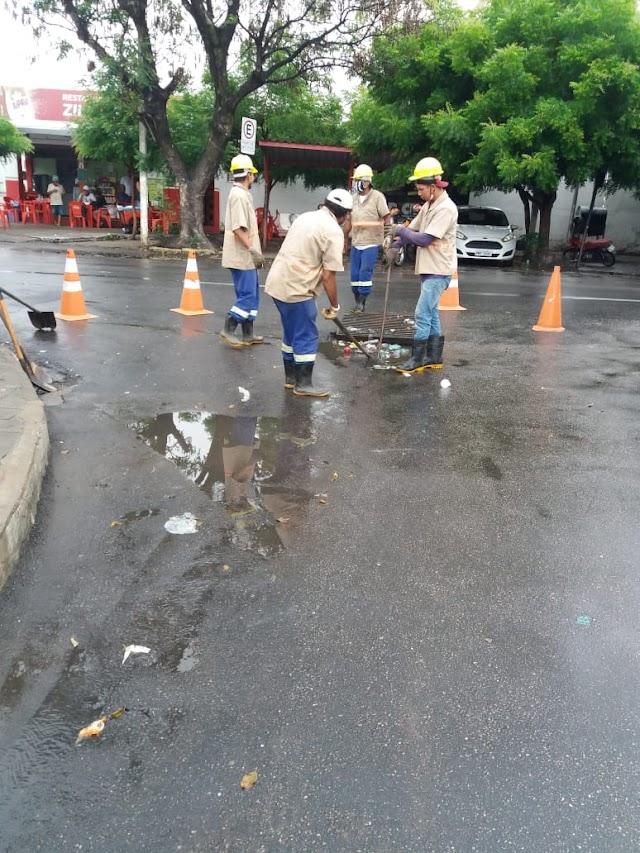 Município intensifica limpeza da rede de drenagem para evitar alagamentos