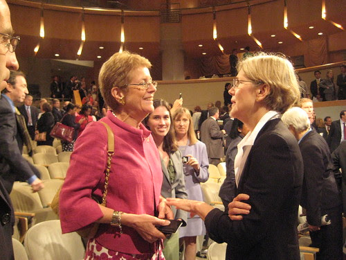 Nancy Zirkin and Elizabeth Warren