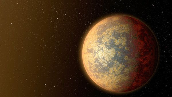 An artist's concept of the exoplanet HD 219134b.