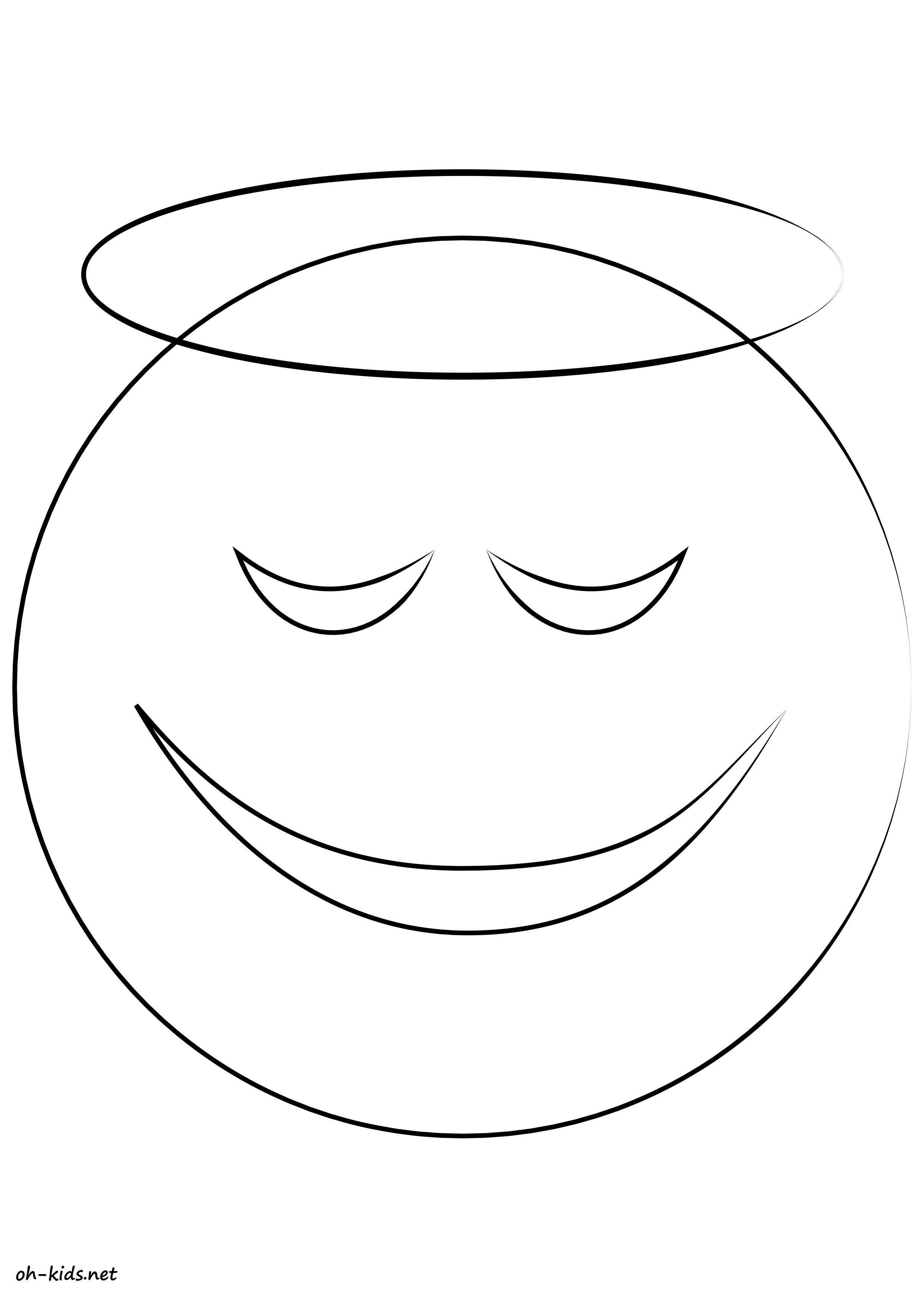 coloriage smiley gratuit a imprimer Dessin 756