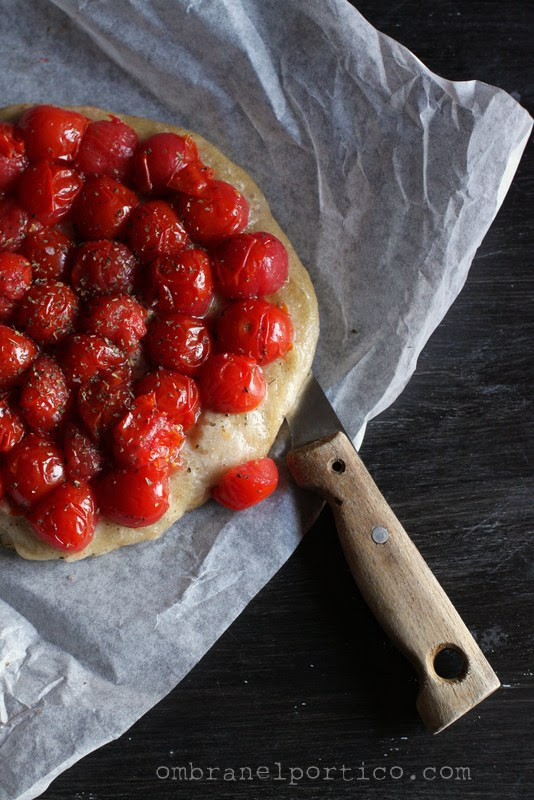 Focaccia Petra 1 con pomodorini confit