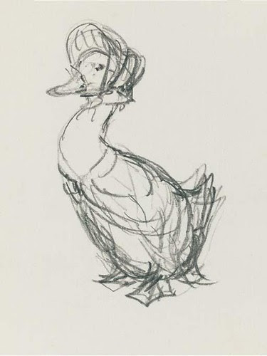 A preparatory sketch for the front cover of The Tale of Jemima Puddle-duck