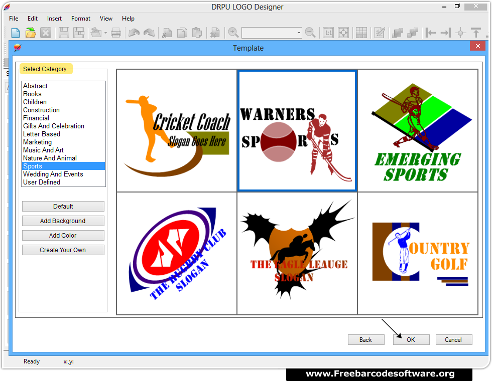 Logo Design Software Screenshots - FreeBarcodeSoftware