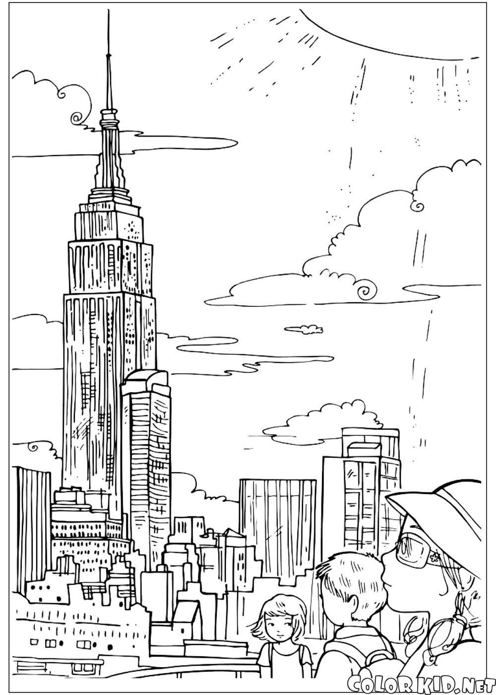 Boyama Sayfası Empire State Binası