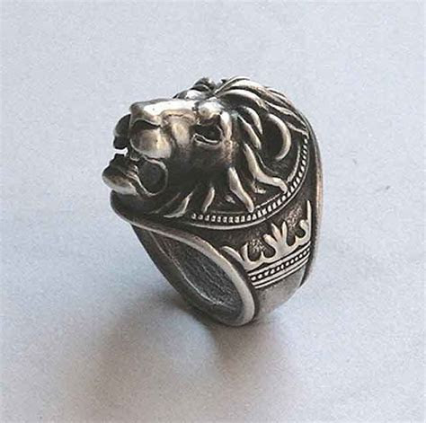 Lion head ring, Lion ring for man, Ring for man, Bikers