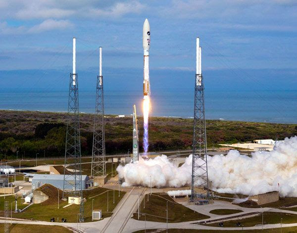 The Atlas V rocket carrying OTV-3 is launched from Cape Canaveral Air Force Station in Florida, on December 11, 2012.