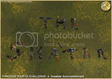 Postcards of Azeroth: Through Your Interface Challenge - Day 4 - Greatest Accomplishment, by Rioriel of theshatar.eu