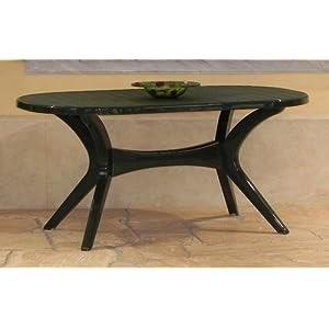 besten preis steiner lyon gartentisch boulevardtisch oval 150 x 90cm wetterfest gr n. Black Bedroom Furniture Sets. Home Design Ideas