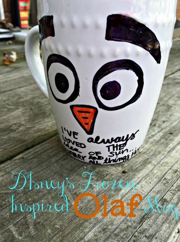 Olaf Inspired Handmade Mug by My Kids Guide