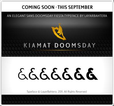 kiamat doomsday luxury font