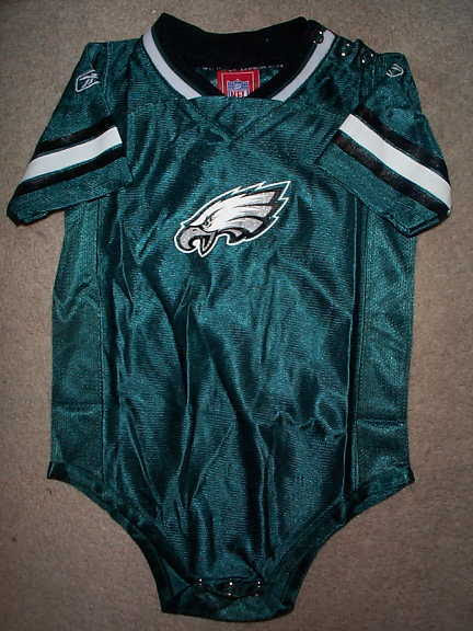 REEBOK Philadelphia Eagles nfl BABY INFANT NEWBORN CREEPER Jersey 24M 24 Months  eBay