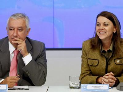 Javier Arenas y María Dolores de Cospedal, en una imagen de archivo. EFE