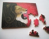Iron Lion 8x10 Custom Wood Jigsaw Puzzle