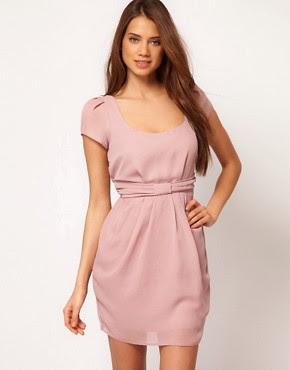 Image 1 ofASOS Bow Front Tulip Dress