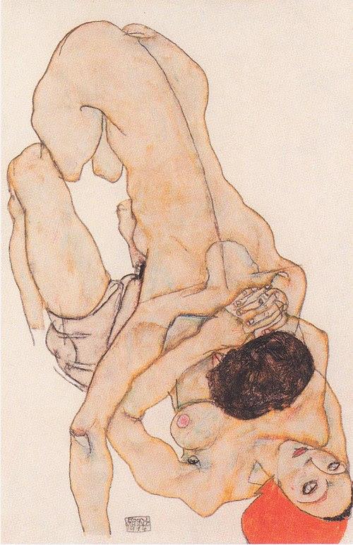 Egon Schiele - Lesbisches Liebespaar - 1914