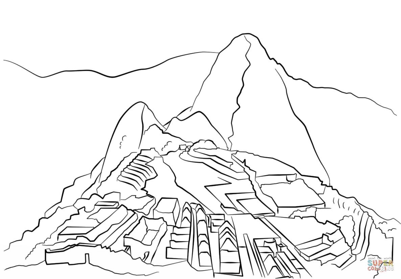 Dibujo De Machu Picchu Para Colorear Dibujos Para Colorear